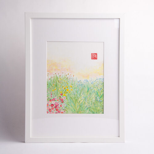 Carmen Chan's Van Dusen Flower Bed painting