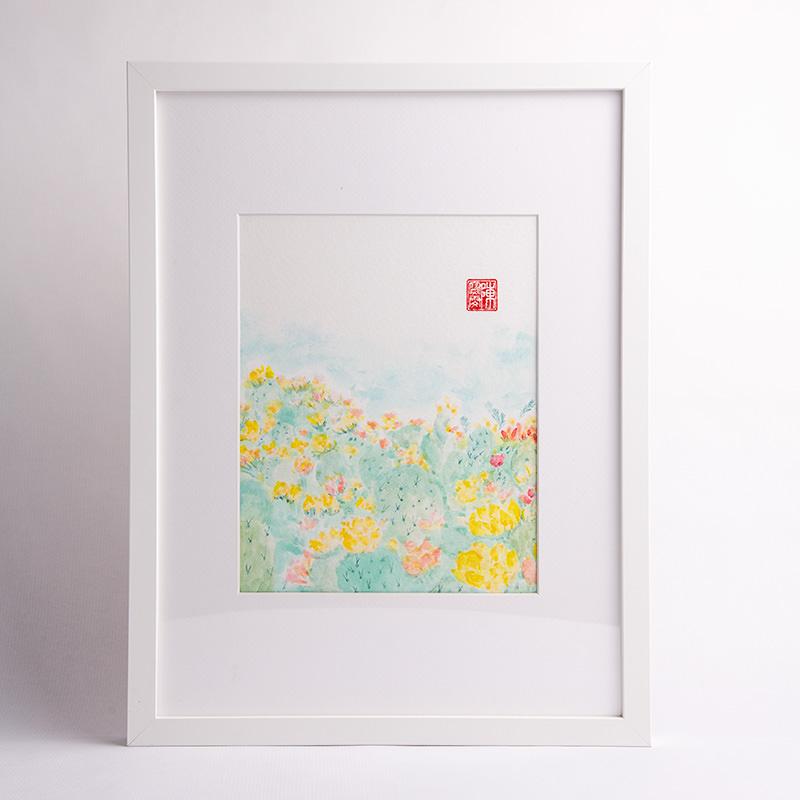 Carmen Chan's Kaleden Cactus Garden painting