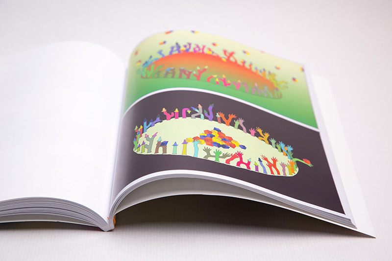 Open spread of Sunny Nestler's Undergrowth book against a white backdrop
