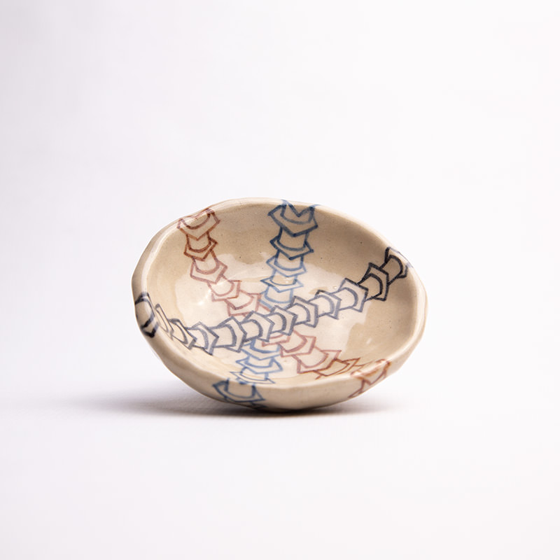 Sunny Nestler's Triple Worm Bowl, a ceramics piece pictured against a white backdrop